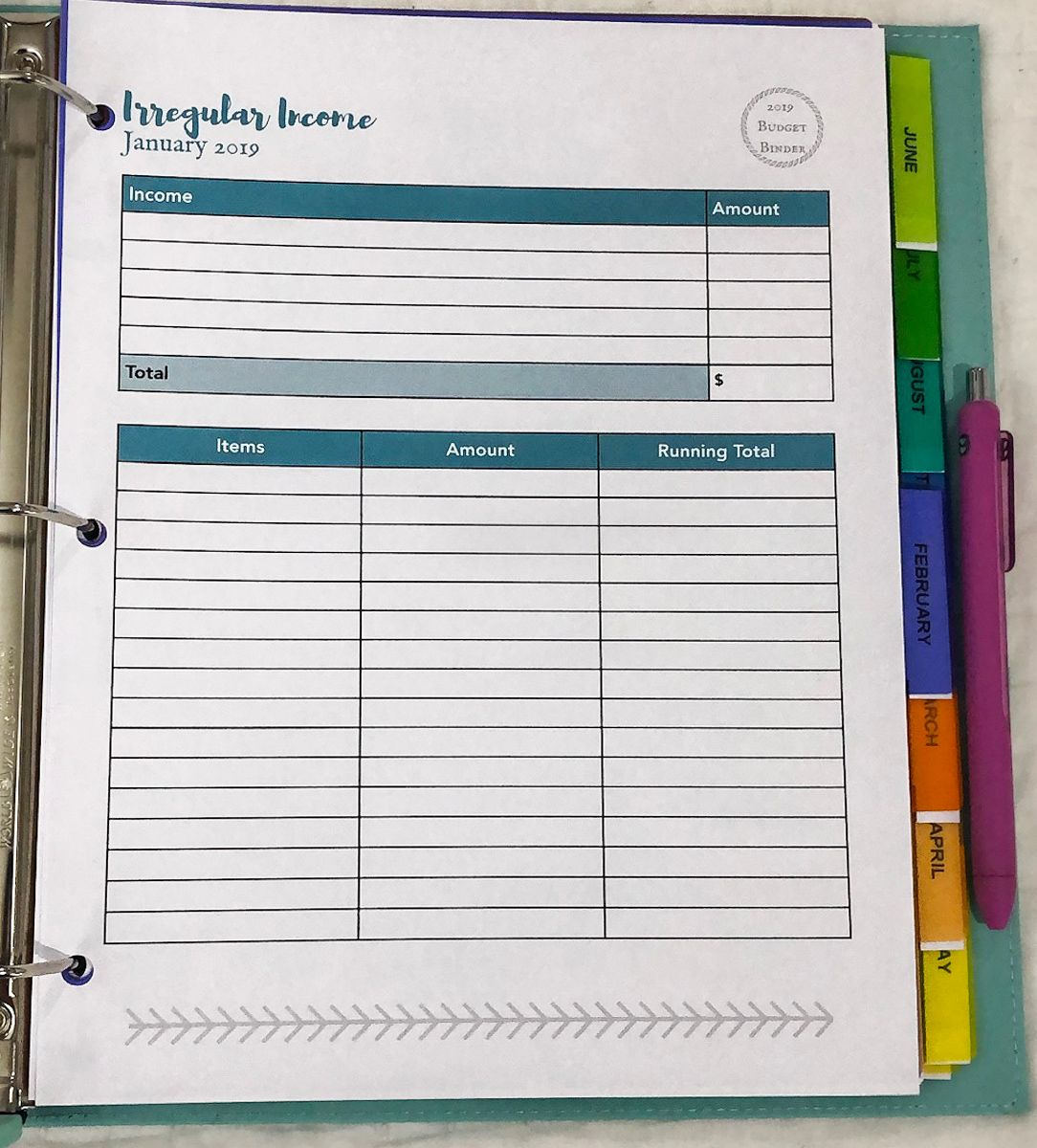 Creating Your 2019 Budget Binder