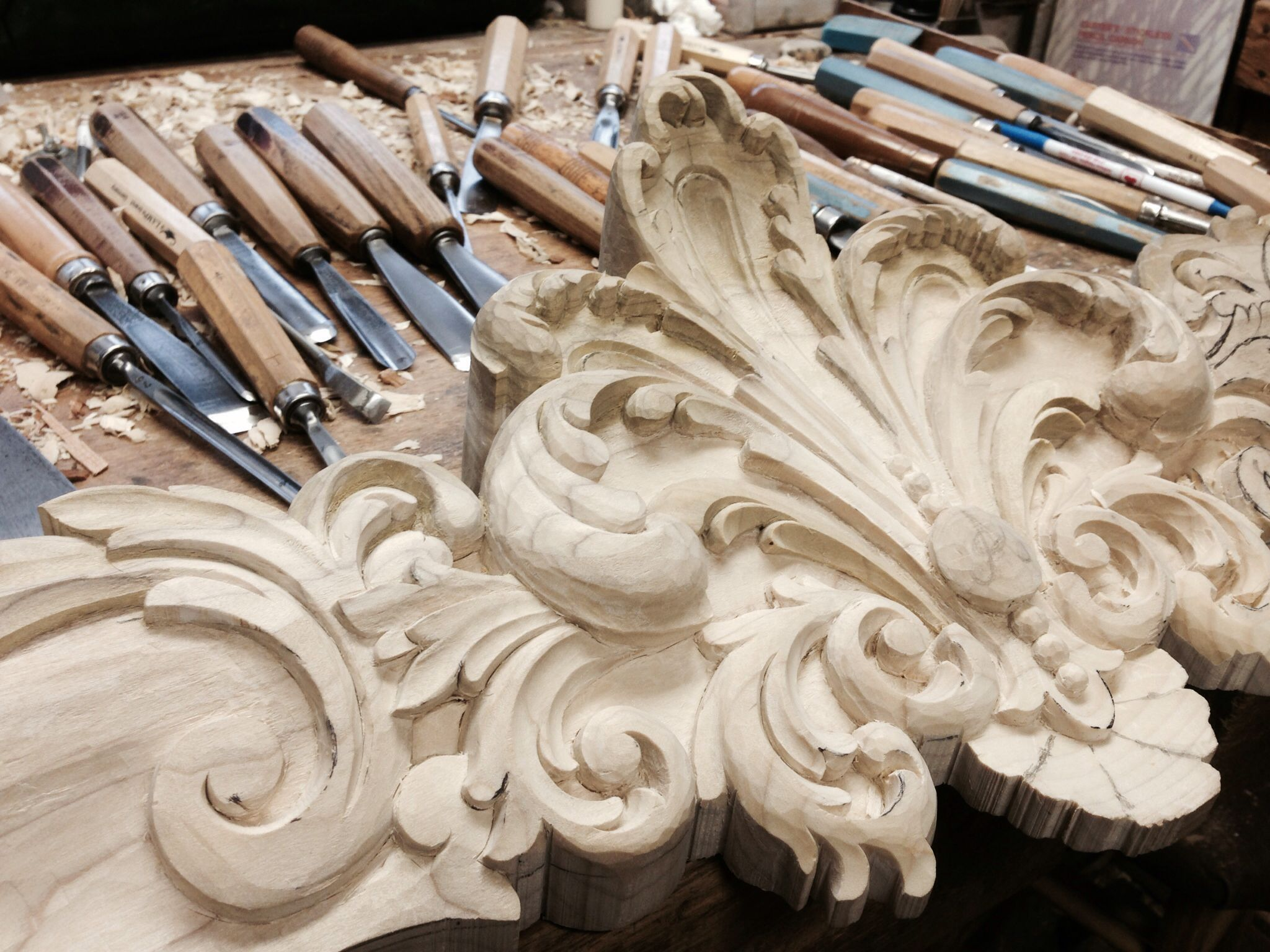 Hand Carved Built In Armoire Bonnet For Boiserie Dining Room