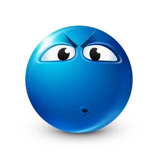 Displeased   Facebook-Symbols Big Smileys   Blue emoji