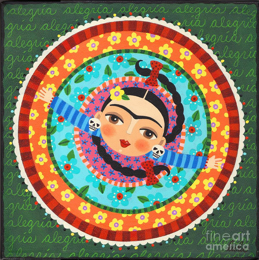 Frida Kahlo Dancing Canvas Print Art By LuLu Mypinkturtle