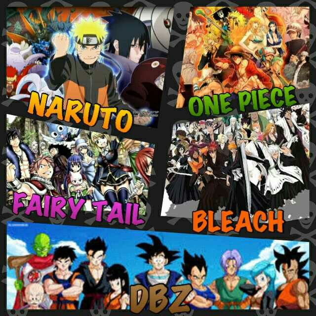 Dragon Ball Z One Piece Naruto Bleach Fairy Tail Anime Wallpaper