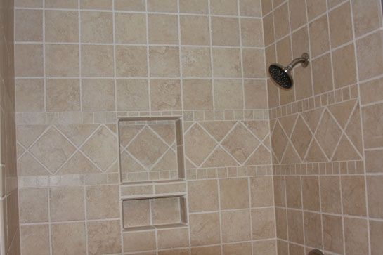 Wide Middle Border Tile Shower Pinterest Showers Soap Dish