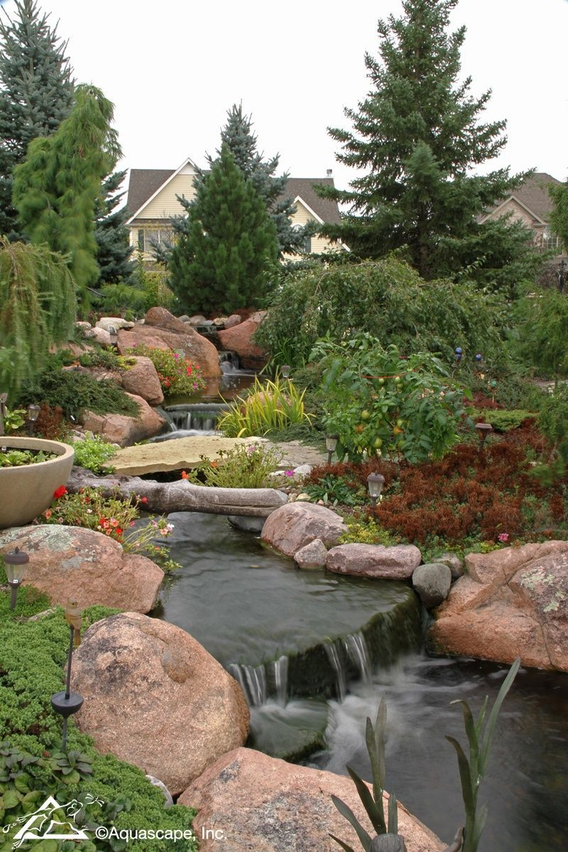 Backyard Stream and Waterfall Adds Intrigue to Homeowner's ...
