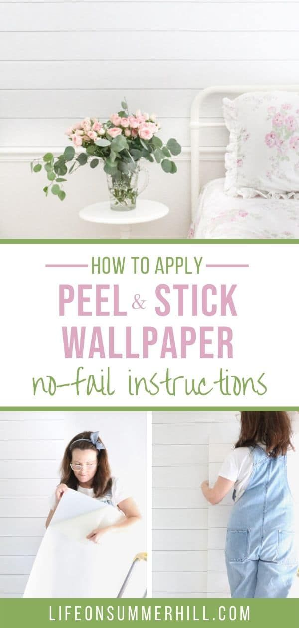 How to Apply Peel and Stick Wallpaper in 2020 | Laundry ...