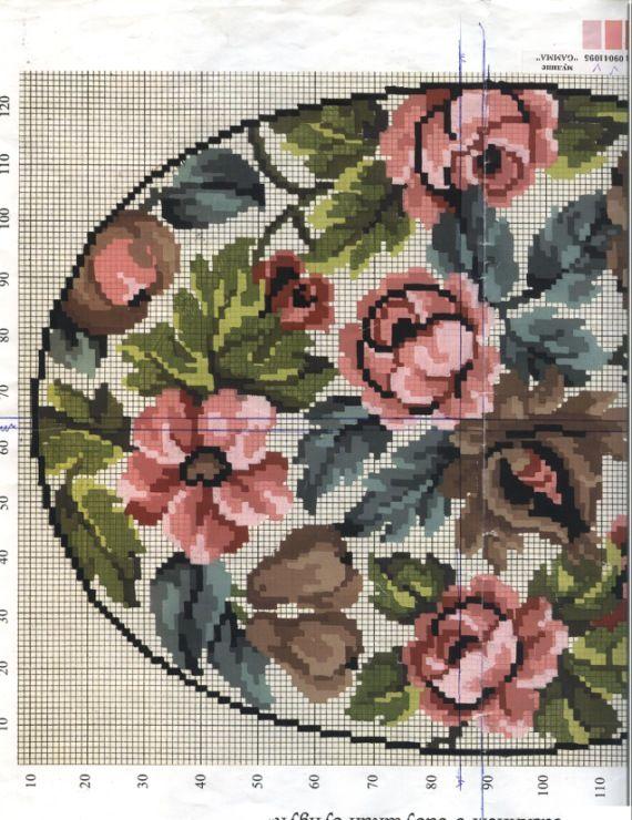 Gallery.ru / Фото #2 - Цветочки-розы - Li-Sav | Cross ...  Цветочки Розы