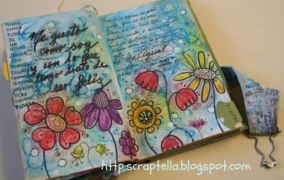 Scraptella: Art journal / Mixed media