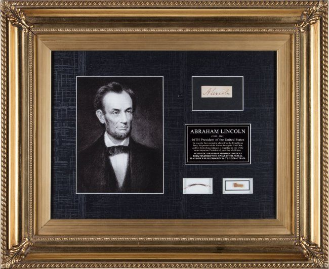 43312: Abraham Lincoln: Strands of Hair and Funeral Train