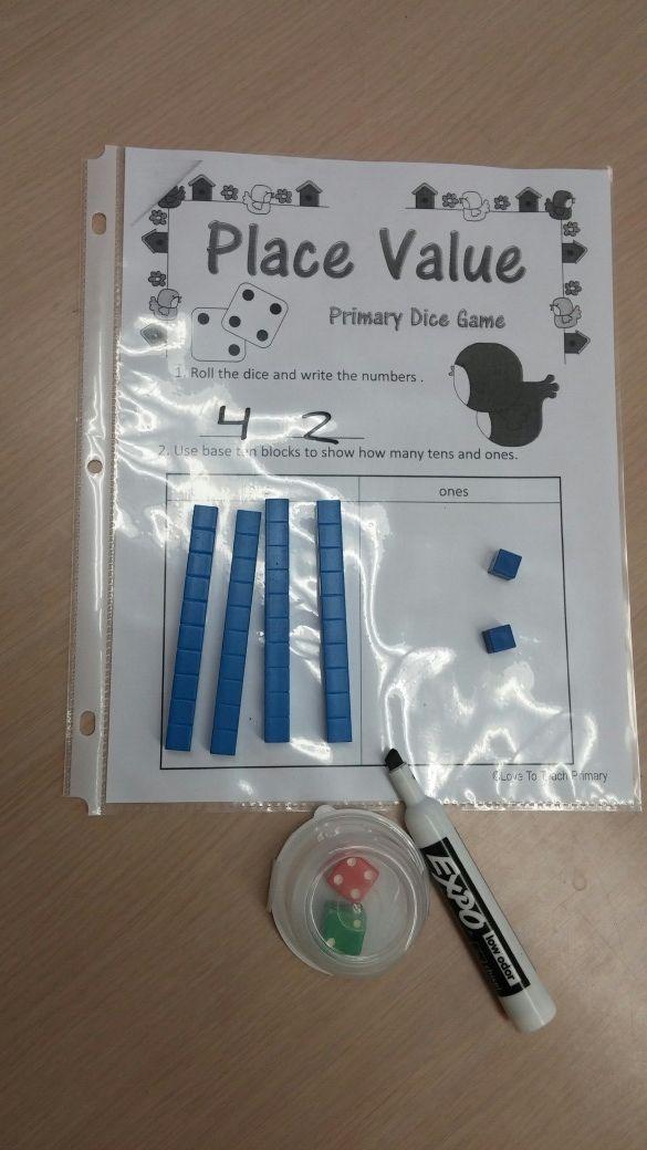 Spring Math Dice Games FREE