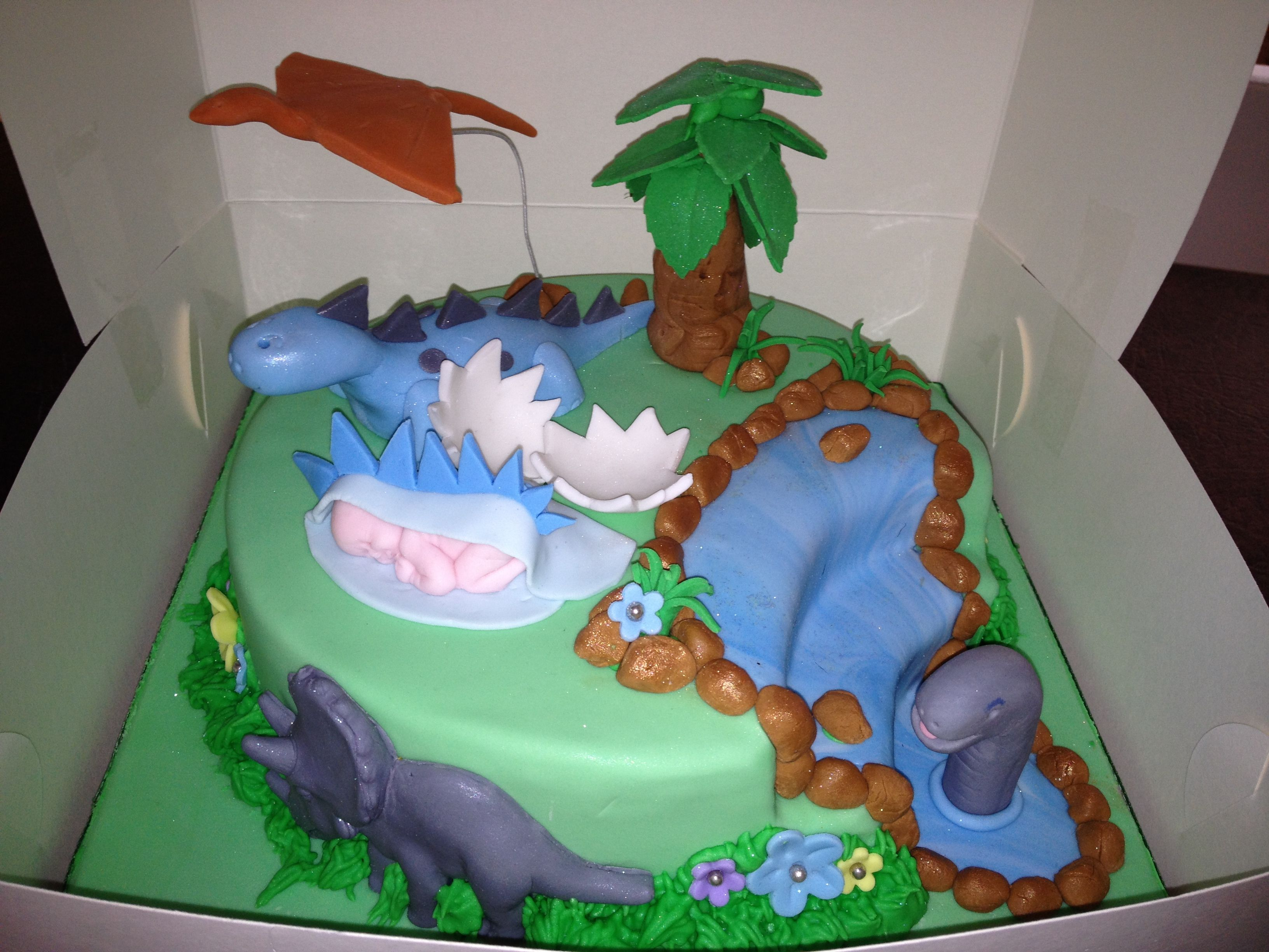Dinosaur Baby shower cake My Cakes Pinterest Shower cakes