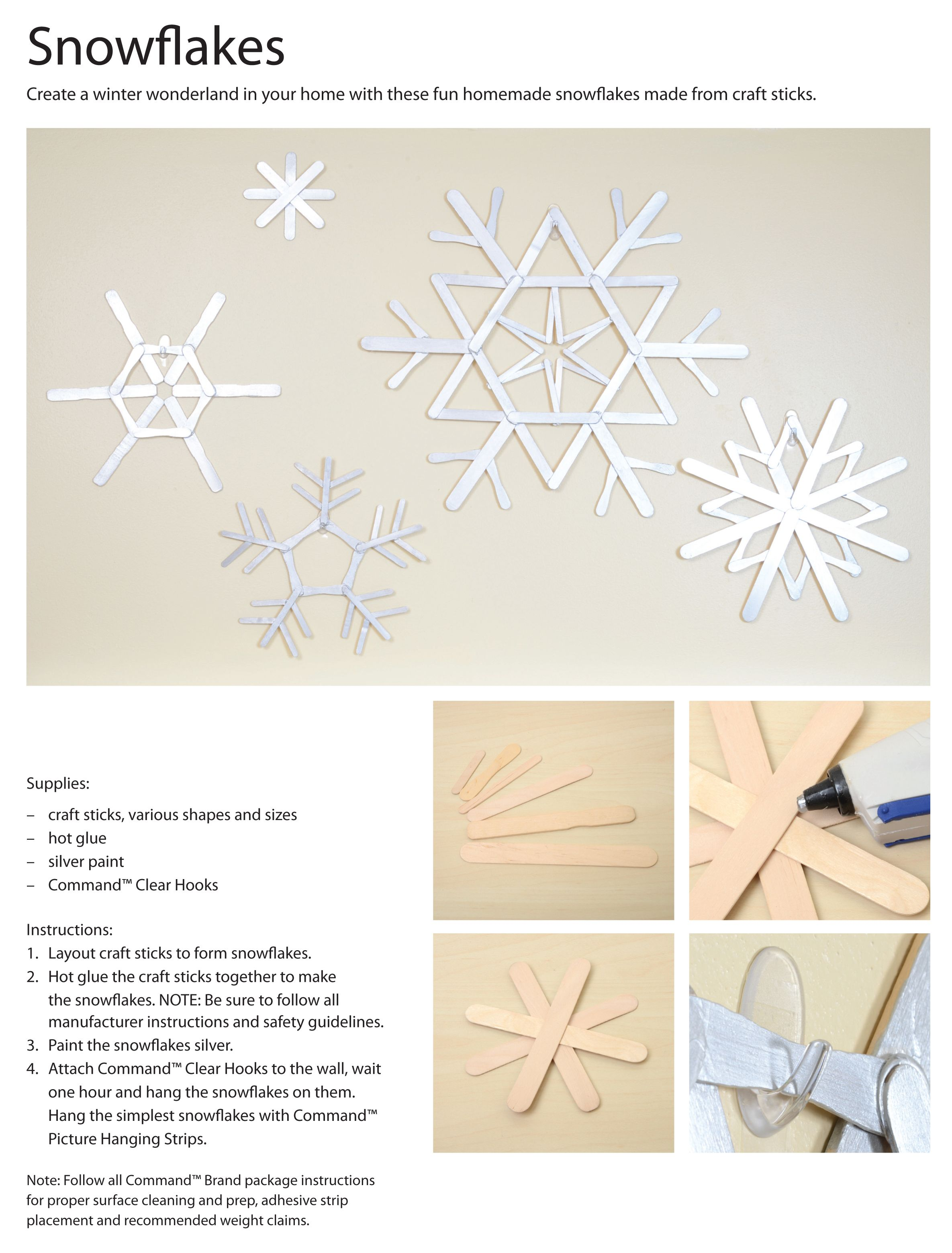 These Snowflakes Are Simple To Make And Easy To Hang Up Without
