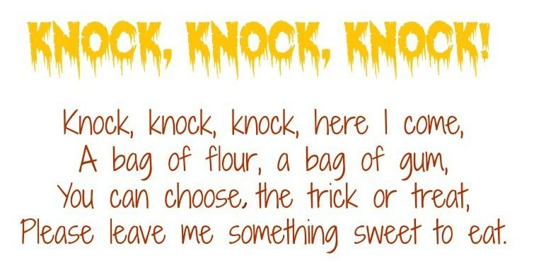 Trick Or Treat Poems For Adults Halloween Poems Rhyming Poems Halloween Poems For Kids
