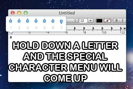 Image result for hold down letter special character