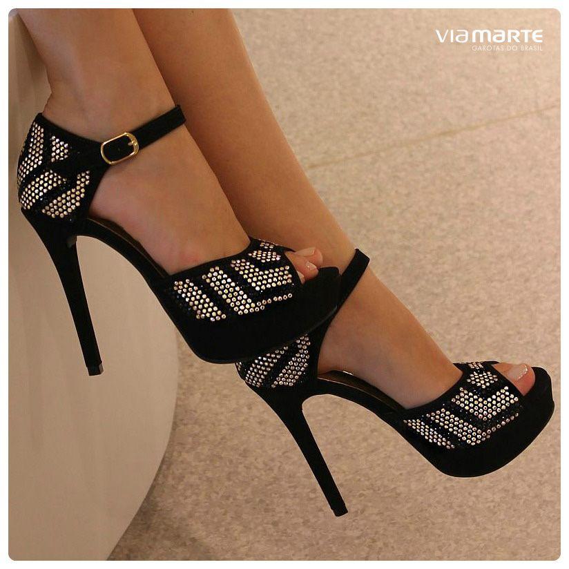 cebb9b3337 salto alto - peep toe - sandália - party shoes - heels - meia pata ...