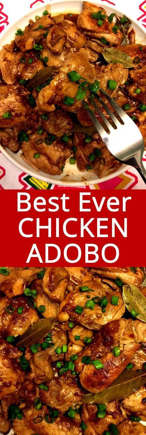 Filipino Chicken Adobo (Classic & Crockpot) | Recipe | Bon