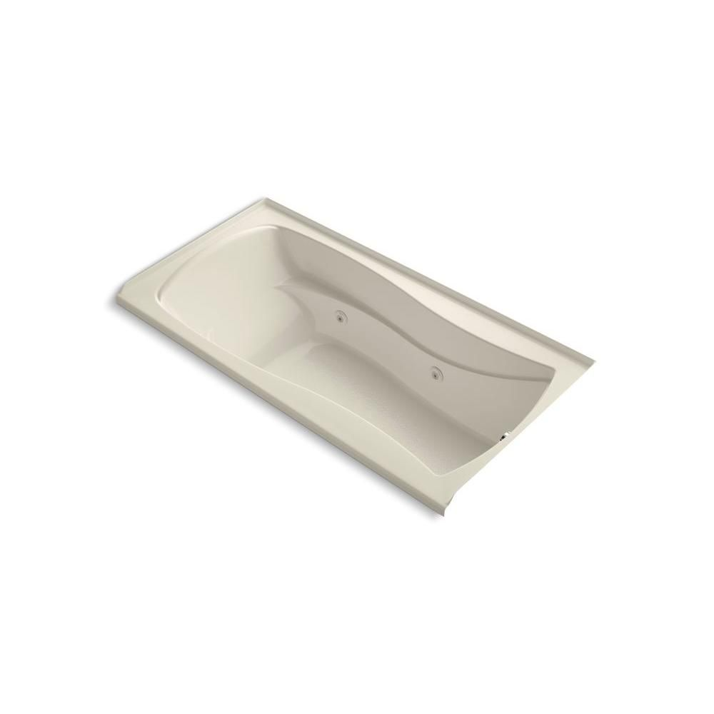 KOHLER Mariposa 6 ft. Whirlpool Tub with Right-Hand Drain in White ...