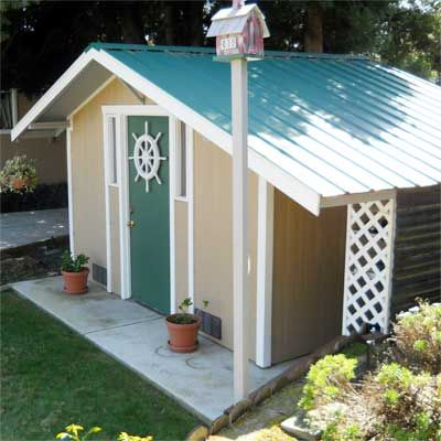 Inspired by a photo in This Old House, this reader built the backyard shed of his dreams. | thisoldhouse.com