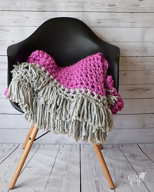 Thick and luxurious Bernat Mega Bulky yarn is used to create this ...