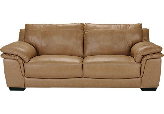 Shop For A Bella Lago Sand Leather Sofa At Rooms To Go Find
