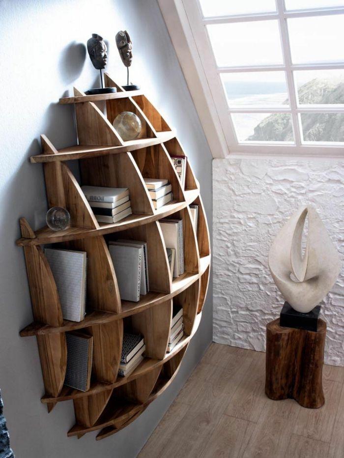 espacios-modernos-habitación-ventana-inclinada-librería-moderna ...