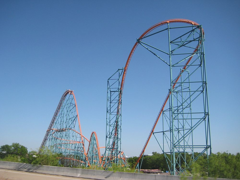 Of All The Rides Found At Six Flags Over Texas Titan Is Over Them All Six Flags Over Texas Six Flags Roller Coaster
