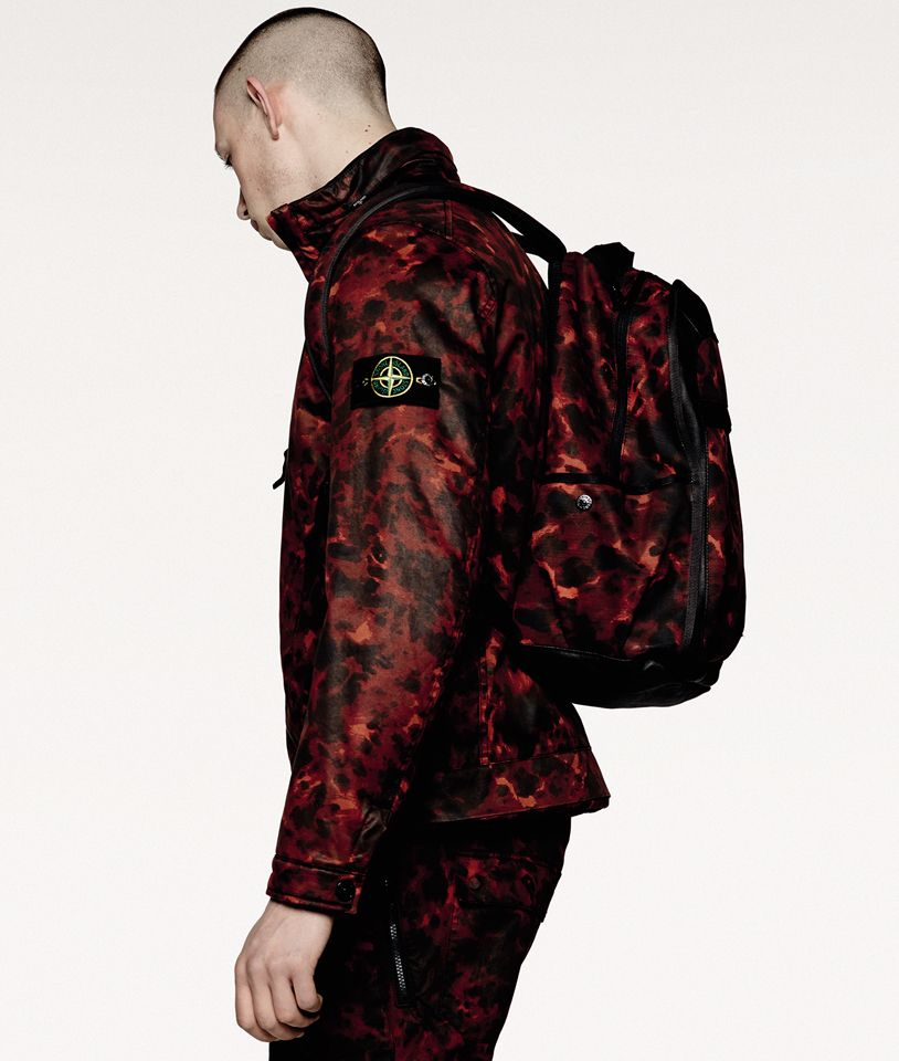 d4c21491941a7 Stone Island drops a new tortoise camouflage collection, featuring  technical outerwear and accessories. 44055 RASO GOMMATO TORTOISE SHELL OVD  ...