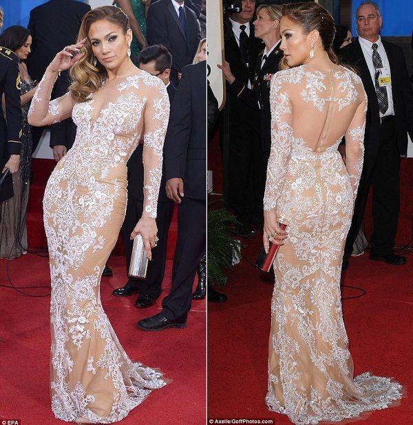 Jennifer Lopez Wedding Dress 2017 Golden Globe Inspiration