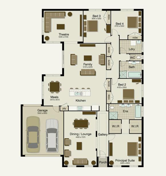 300 Sqm House Plans Floor plans, Craftsman floor plans