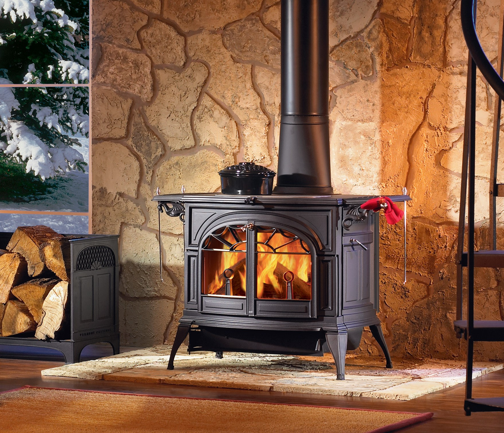 Wood Stove Fireplace, Vermont