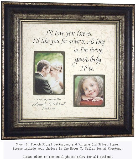 Personalized Picture Frame for Mother of the Bride Gift, Parents ...
