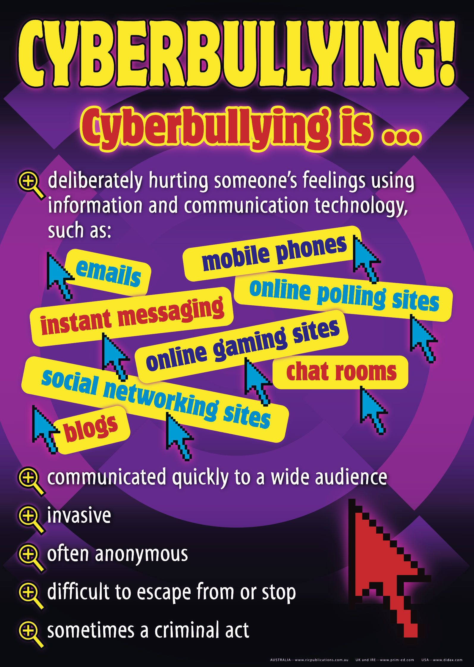 E safety poster designs - Cyber Bullying Poster Series Stimulate Worthwhile Discussion On This Highly Topical Problem The Text Has Been Carefully Chosen To Promote Open Ended