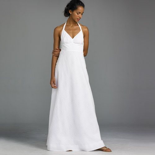 The Off The Rack Bride Casual White Dresses For A Beach Wedding Alpha Mom Casual Beach Wedding Dress Cotton Beach Dresses Cotton Wedding Dresses