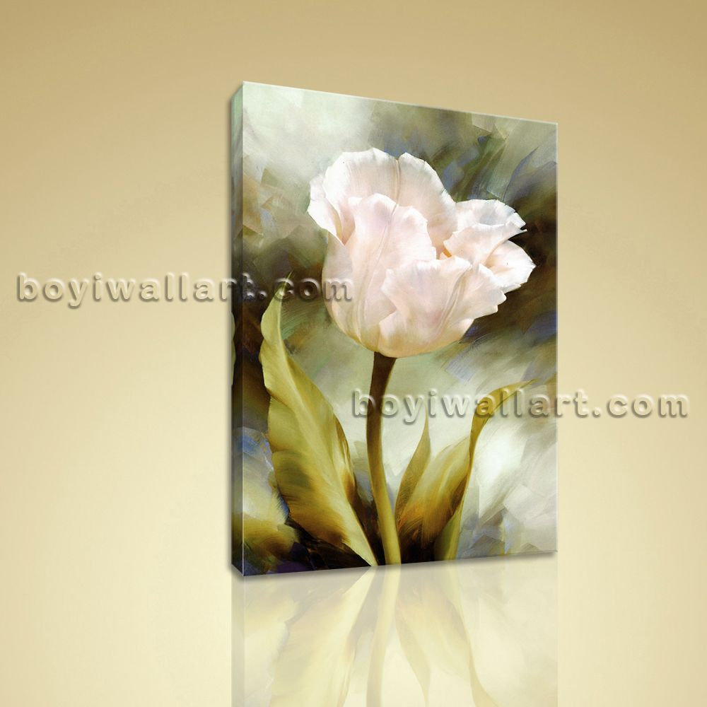 Contemporary Abstract Floral Canvas Print Flower Wall Art Ready To ...