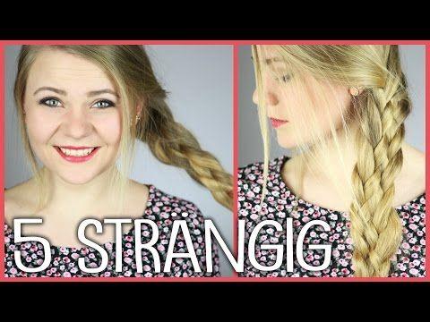 Einfache Frisuren 6 Strahnen Zopf Flechten Tutorial 6 Strand Braid Tutorial Peinados Youtube Zopfe Flechten Zopfe Geflochtene Strahne