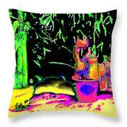 Staghorn Fern Go Green Jgibney The Museum Fineartamerica Gifts Throw Pillow by jGibney The MUSEUM Artist Series jGibney, jGibney The MUSEUM, gib, gibney, jgibney,Gibney, jGibney,  ---SEE EVERYTHING HERE--->>> http://themuseum.host56.com/themuseum.htm, http://www.zazzle.com/the_museum/products, http://www.zazzle.com/mbr/238948309450180796, http://www.zazzle.com/The_MUSEUM*, jGibney/The MUSEUM Zazzle Gifts <<<---