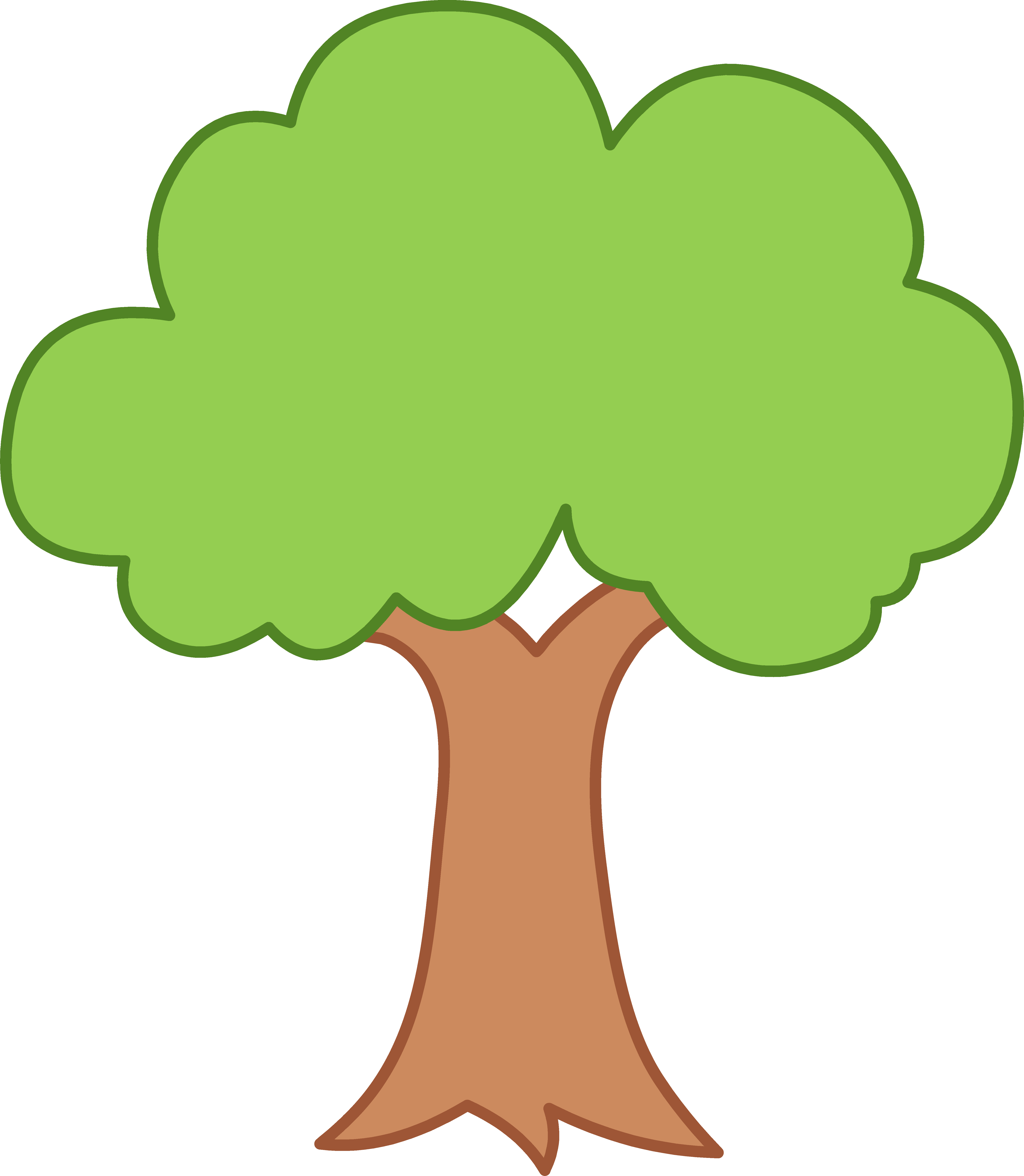 green tree clipart. clipart