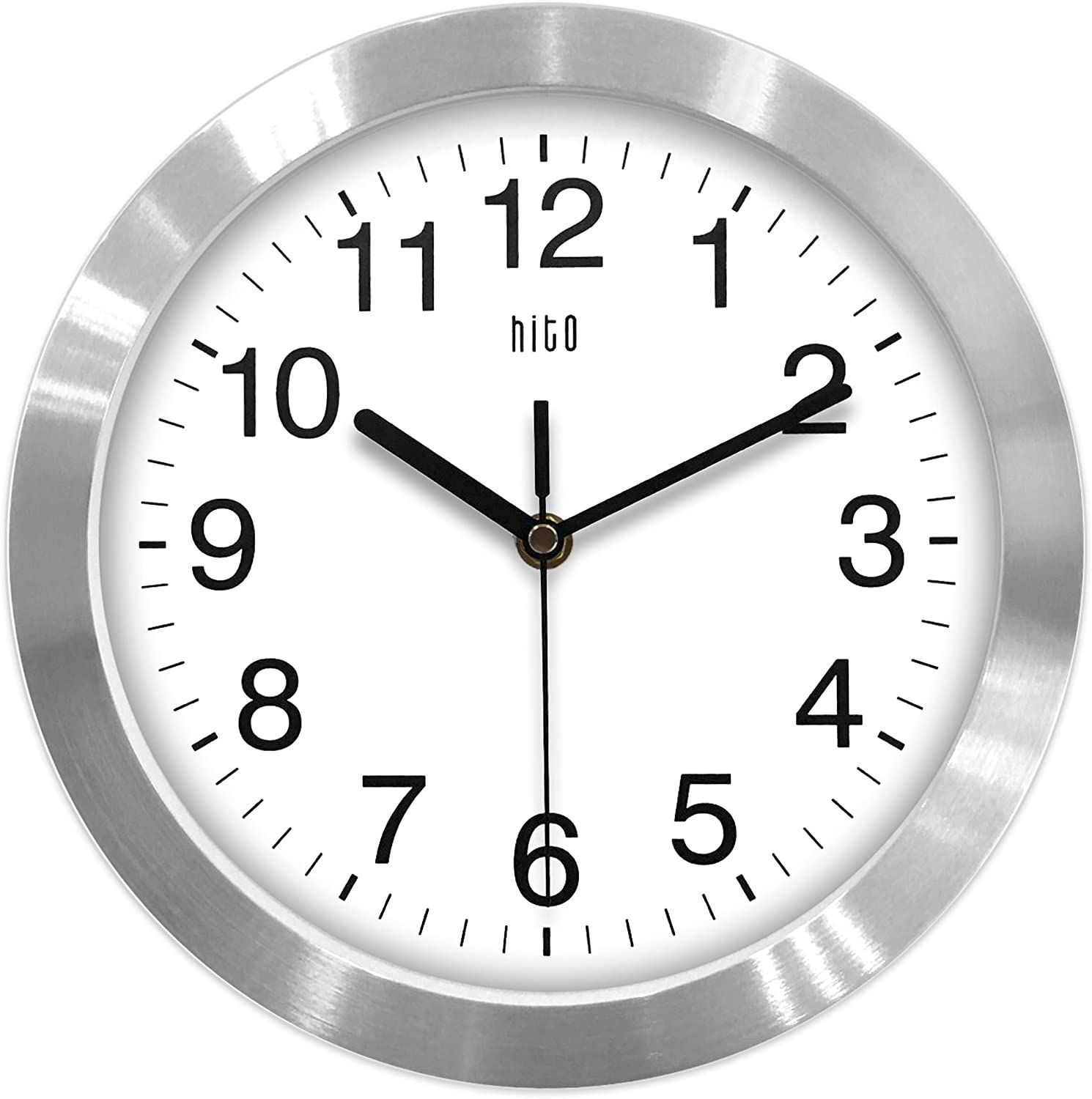 Hito Modern Silent Wall Clock Non Ticking 10 Inch Excellent Accurate Sweep Movement Aluminum Frame In 2020 Wall Clock Metal Wall Clock Led Wall Clock