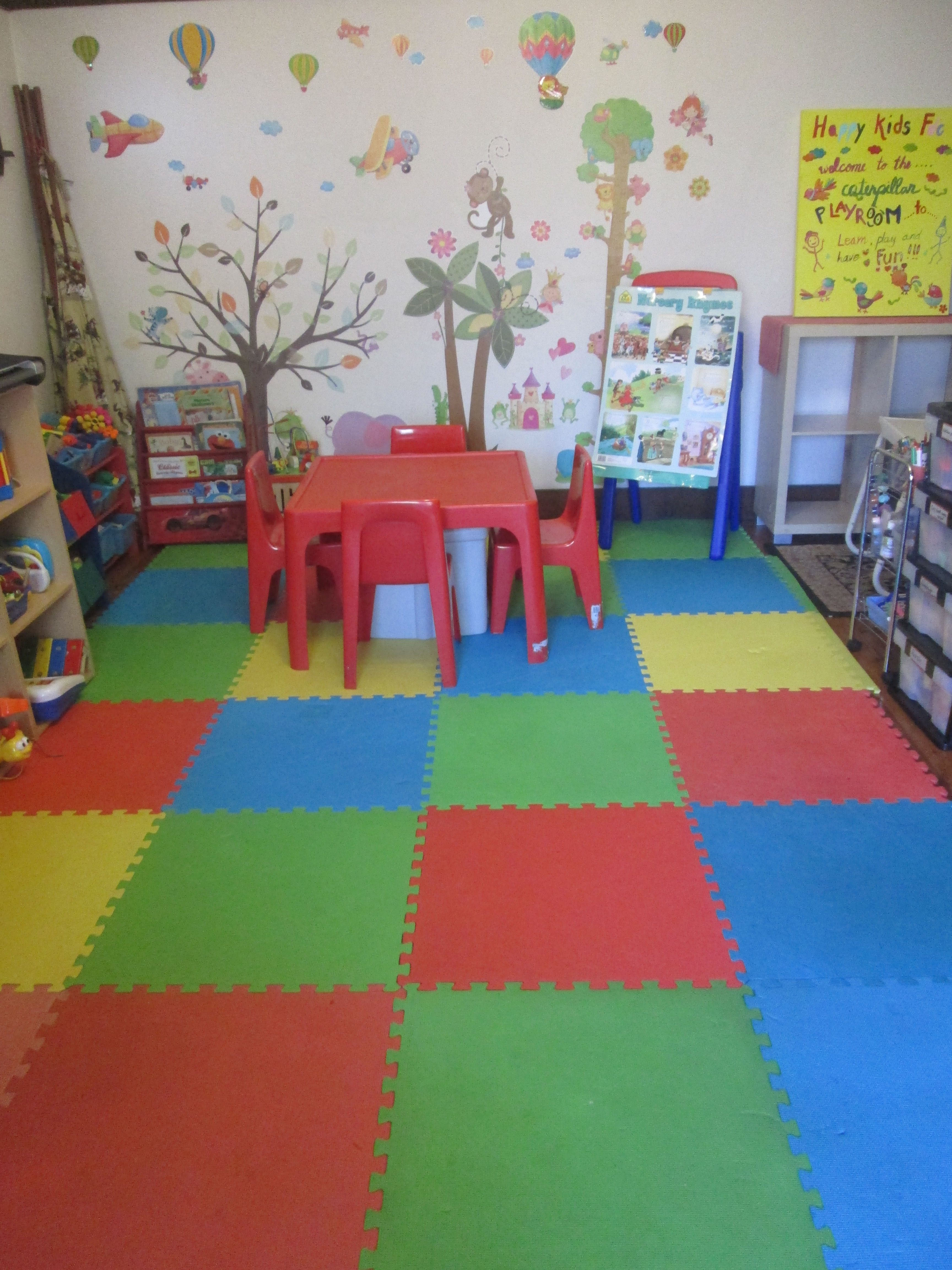 organised ideas to set up a play room for a family day care business