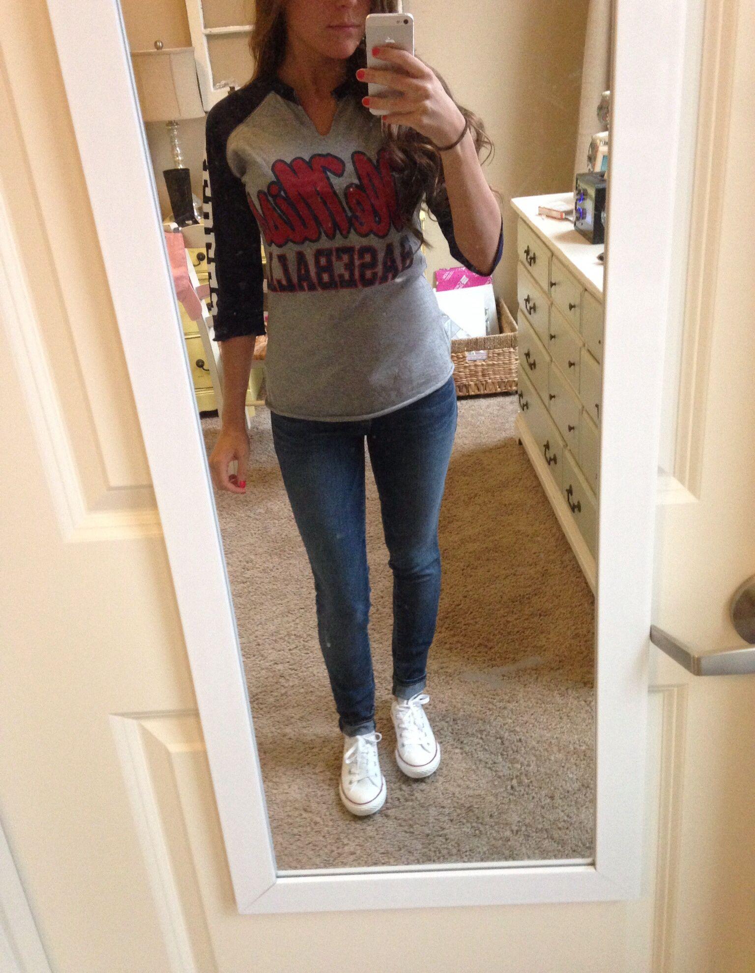 Cute baseball game outfit - converse - Cute Baseball Game Outfit - Converse Fashion Pinterest Best