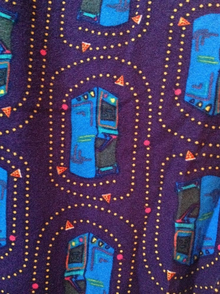 Lularoe Os One Size 80s Video Games Pac Man Purple Background