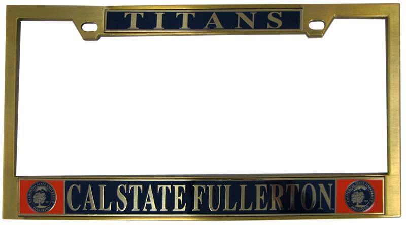Csuf Seal Brass License Plate Frame License Plate License Plate Frames Brass