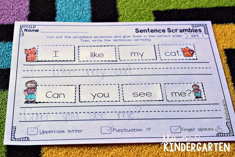 sentence building practice sentence building miss. Black Bedroom Furniture Sets. Home Design Ideas