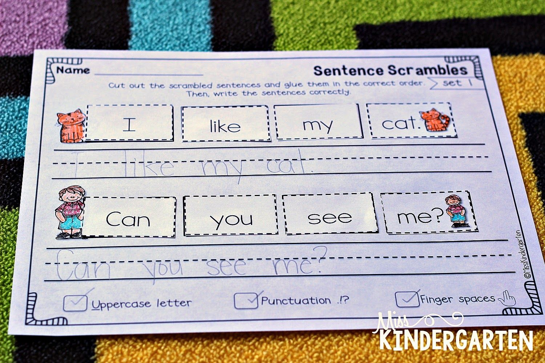 sentence building practice projects to try sentence building miss kindergarten. Black Bedroom Furniture Sets. Home Design Ideas