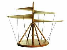 Modern Model Reconstruction Of The Air Screw Of Leonardo Da Vinci