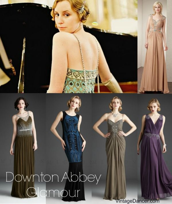 Stunning Formal Downton Abbey Dresses Inspired By Edith S Beautiful Gown In Season 4 Http