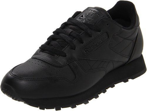 8b0464eda8bd4 Details about Reebok Women s Classic Leather Running Shoe in Black ...