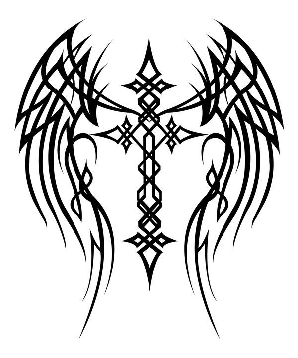 Cross with Wings Tattoo by MercedesJK on deviantART ...