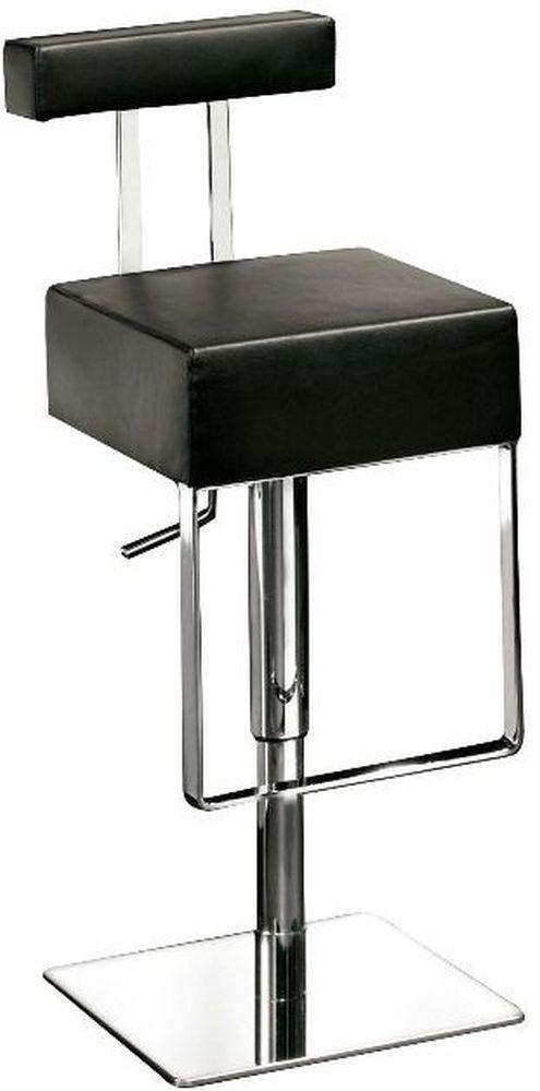 Fabulous Sam Black Leather Bar Stool With Chrome Base Dan Form Bar Short Links Chair Design For Home Short Linksinfo