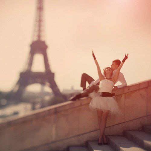 In love in Paris.