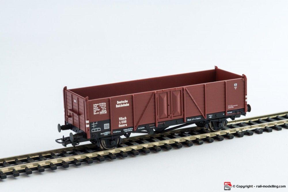 LILIPUT 221703 - H0 1:87 - Carro merci aperto tedesco DR Epoca II modello 0mmru Villach Holz con confezione