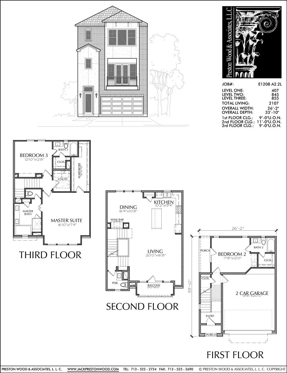 Urban Townhome Floor Plans Town House Development Row Construc Preston Wood